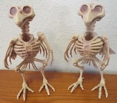 Set Of 2 HALLOWEEN SKELETON BIRDS  Haunted House Crow Decor Prop Dead Ra... - $8.00