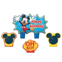 Mickey Mouse Clubhouse Birthday 4 pc Candle Set Cake Topper - $5.69
