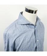 J Lindeberg Mens 16 1/2 34/35 Special Washed Dress Shirt Soft Blue Cotto... - $19.95