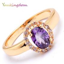 Yunkingdom Fashion Wedding Rings Women Oval Exquisite - $7.99