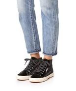 New $139 Women's Superga 2095 Velvtw Black Velvet High Top Sneakers Shoes  - $59.00