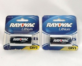 RAYOVAC Lithium Photo Batteries CRV3 ~ Expiration 2023 ~ Lot of 2 NOS - $8.95