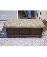 Walnut Cherub Print Cedar Chest or Blanket Ches... - $499.00