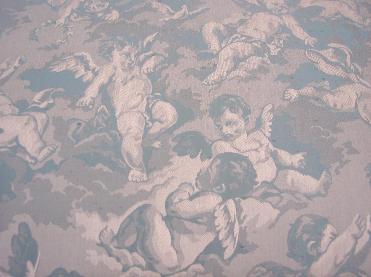 Walnut Cherub Print Cedar Chest or Blanket Chest by Lane