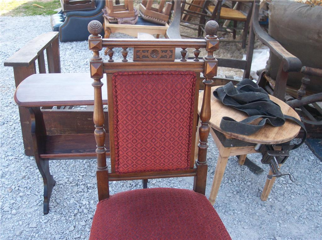 Mahogany Carved Parlor Chair/Sidechair