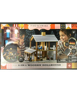 FAO Schwarz New Seasons Wooden Dollhouse Kids Gift Playset Imagination C... - $96.04