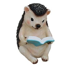TABOR TOOLS Hedgehog Reading Book Ornament, Terrace Figurine, Miniature ... - $15.63
