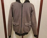 Billabong Grey Zip Up Hoodie Mens Size Small