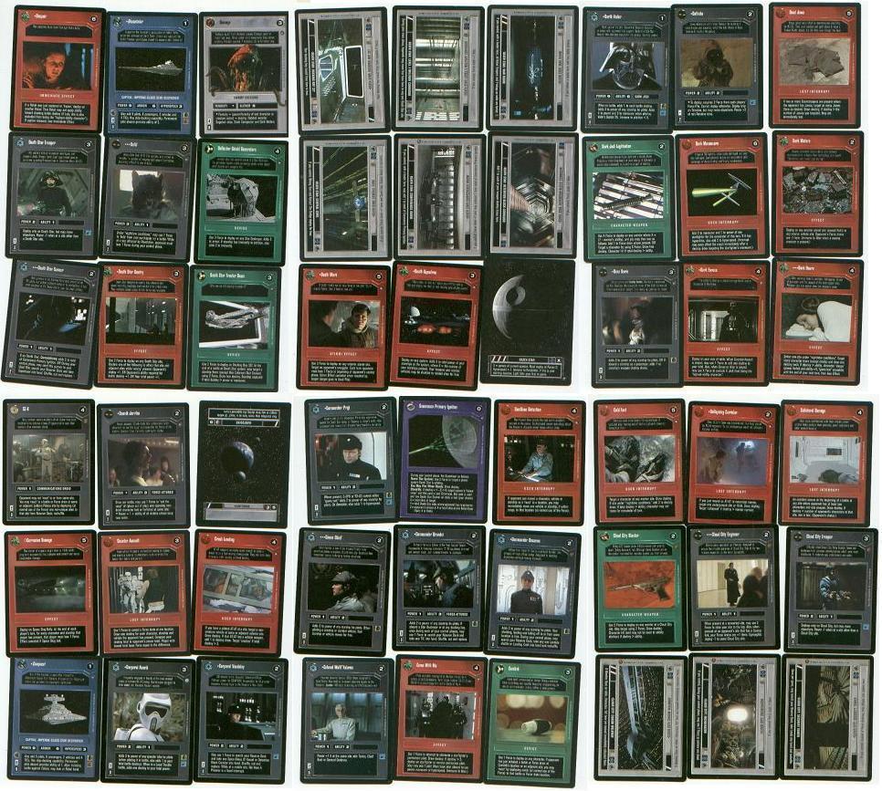 Star Wars CUSTOMIZABLE CARD GAME giant Dark Side card lot Darth Vader / Tarkin +