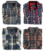 Point Zero Men's Woven Button-Down Shirt Long Sleeve Plaid Classic Fit NEW