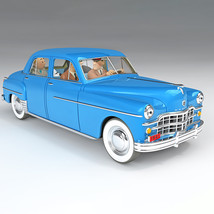 The sprodj dodge coronet from Destination Moon 1/24 VOITURE TINTIN CARS 2021 image 1