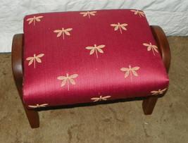 Mahogany Dragonfly Print Footstool Stool - $149.00