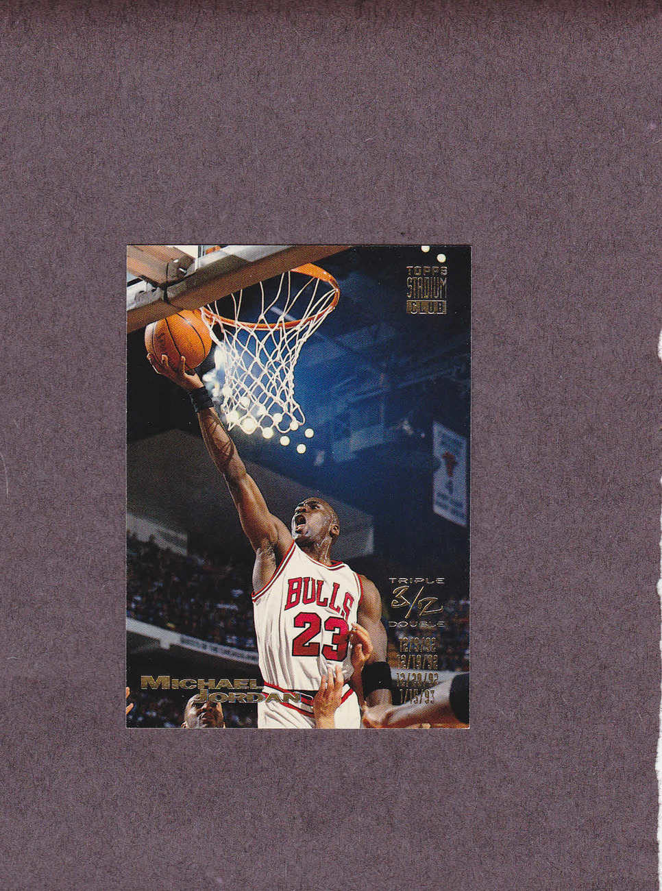 1993-94 Stadium Club # 1 Michael Jordan Chicago Bulls NM