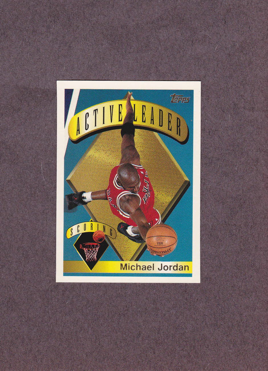 1995-96 Topps # 1 Michael Jordan Chicago Bulls NM