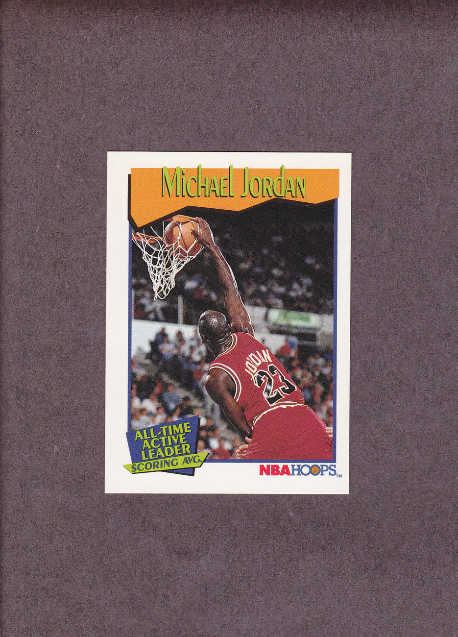 1991-92 Hoops # 536 Michael Jordan Chicago Bulls NM