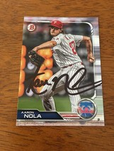 Aaron Nola Philadelphia Phillies Ace Hand Signed Autographed Baseball Card Coa - $18.55