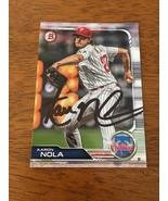 AARON NOLA PHILADELPHIA PHILLIES ACE HAND SIGNED AUTOGRAPHED BASEBALL CA... - $18.55