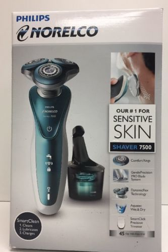 Primary image for (New) Philips Norelco Sensitive Skin Shaver 7500 Wet & Dry