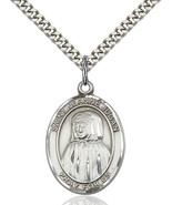 Sterling Silver Blessed Jeannie Jugan Pendant 1 x 3/4 inch with 24 inch Chain - $56.70