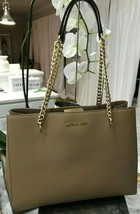 MICHAEL KORS ELLIS LARGE EW LEATHER SHOULDER TOTE MSRP 398 - $117.81