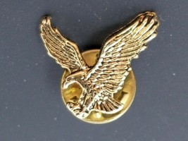 Vintage Gold Colored Attacking Wing Spread Eagle Lapel Pin - $6.88