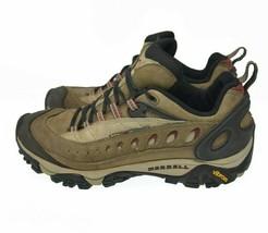 MERRELL Pulse II Womens Sz 9 EU 43 Brown Leather Lace Comfort Hiking Trail Boot - $49.99