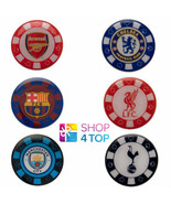 POKER CHIP PIN BADGE ENAMEL OFFICIAL FOOTBALL SOCCER CLUB TEAM OFFICIAL NEW - $5.39