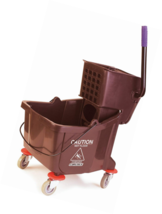 Carlisle 3690469 Commercial Mop Bucket With Side Press Wringer, 35 Quart... - $66.60
