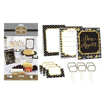 Black, Gold, and Silver Buffet Decorating Kit - 12 Pieces - FREE Shipping - €9,66 EUR