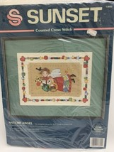 """Vintage Sunset """"Nature Angel"""" Counted Cross Stitch Kit 12inx9in New in Package  - $14.84"""