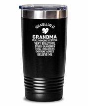 Funny Trump Grandma Insulated Tumbler from Grandson Sweat Proof Thermos - $29.67