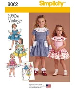 SIMPLICITY SEWING PATTERN 8062 1950s VINTAGE CHILDS TODDLER GIRLS DRESS 1/2-3 - $10.29