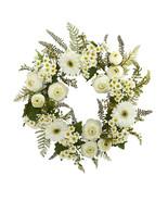 "24"" Mixed Daisy's and Ranunculus Wreath - $73.84"