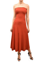 Ronny Kobo Womens Striped Dress Slim Midi Strapless Red Size XS - $209.41