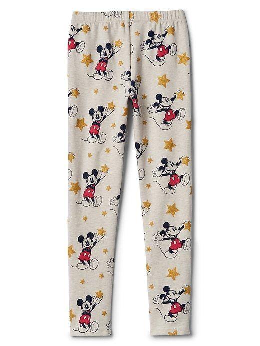 Gap Kids Girls Leggings Disney 6 7 8 10 12 14 16 Mickey Mouse Oatmeal Tan New