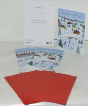 Hallmark X7471 Merry Christmas Village Card Red Envelope Package 10 image 1