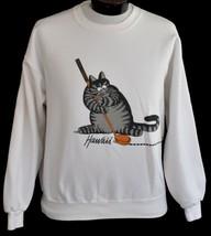 Vintage 90s B Kliban Alley Cat Hawaii Golf Sweatshirt Crazy Shirt Med to... - $49.49