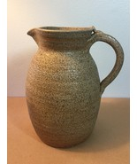 Artisan Pottery: Classic Brown Stoneware Beverage Pitcher (JD04) - $30.00