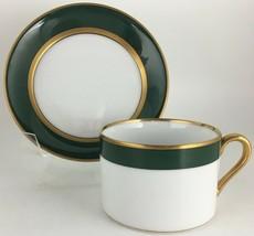 Fitz & Floyd Renaissance Dark Green Cup & saucer - $10.00