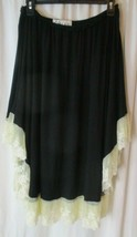 Woman's poncho boho lucky and blessed L&B Black & Lace blouse sz PL - $22.76