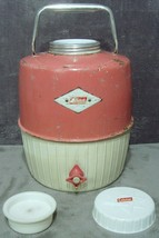 1959 1st Ed. Pink Coleman Diamond Label Porcelain Lined 2 Gal. 702 Snow-Lite Jug - $149.99
