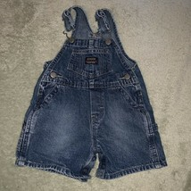 Oshkosh Baby Denim Jean Shortalls Overalls 6m - 9m Unisex Carpenter - $16.64