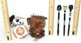 5 LOT STAR WARS CHEWBACCA STORMTROOPER BB-8 TALK TOY PLUSH FIGURE + WRIT... - $13.88