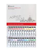 Montmar Art Acrylic Paint Painting 24 Colors Tubes Set 20ml
