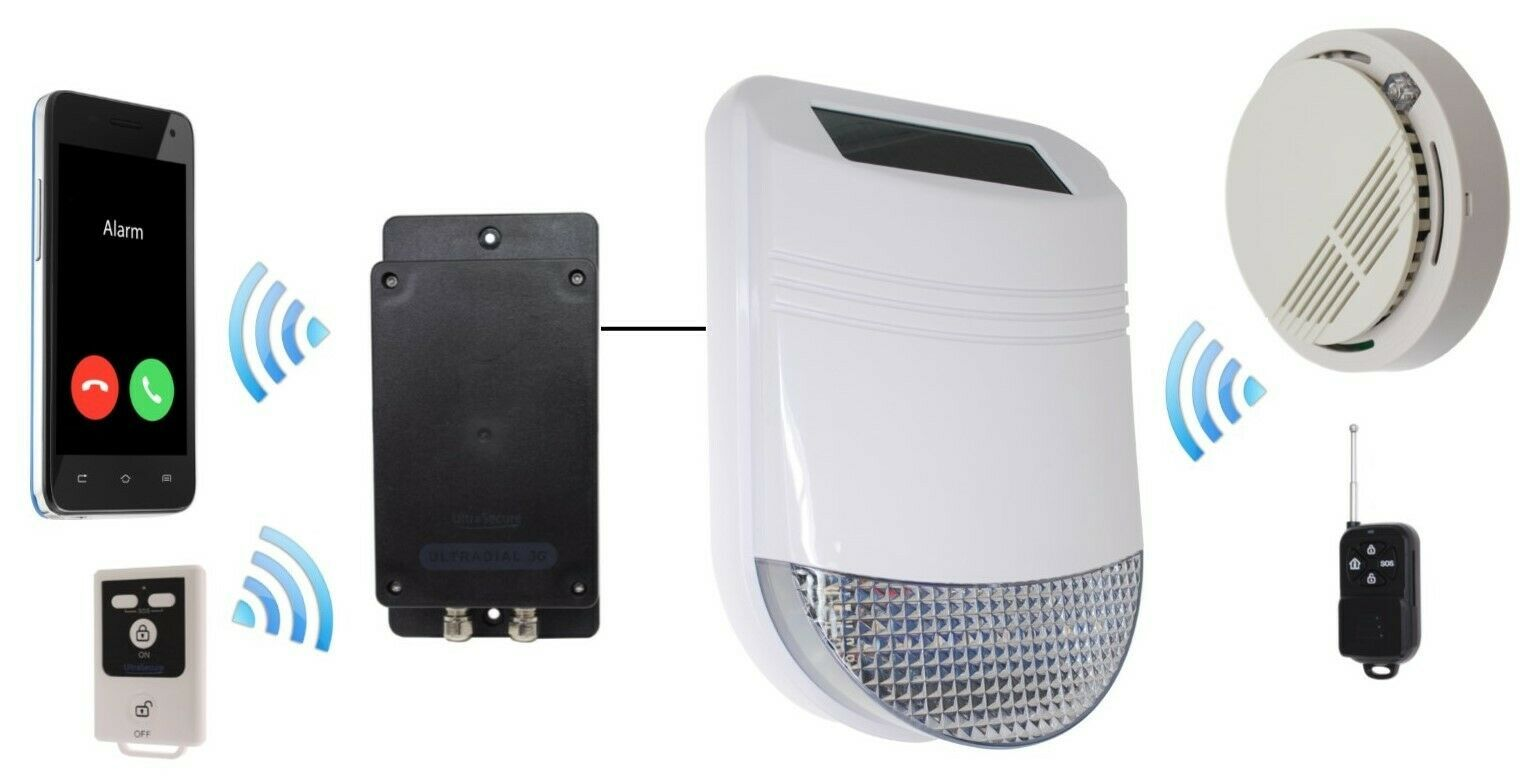 Covert Battery GSM Alarm Ideal for Sheds or Garages Contacts up to 3 x key-holders No Sim Card N//O /& N//C Wired Cable Input