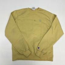 Champion Sweatshirt Men's Medium Long Sleeve Yellow Crew Neck Polycotton... - $24.95