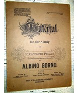 Material for the study of Pianoforte Pedals by Albino Gorno 1990 Song Sheet - $4.00