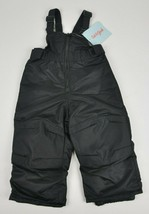 New CAT & JACK Black Insulated SNOWSUIT Bibs OVERALLS Winter SNOW Infant... - $14.85