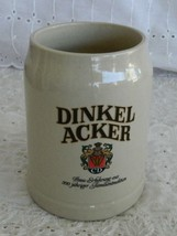 Dinker Acker 0.5 Liter Beer Stein Mug Stoneware West Germany 18 Ounce - $9.99