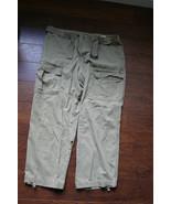 """vtg lee dungarees beige belt cargo pocket W40*I30 I28.5"""" - $9.99"""
